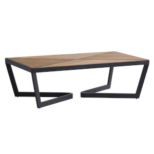 South Beach Dark Graphite and Light Brown Rectangular Cocktail Table