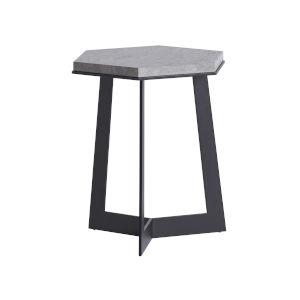 South Beach Dark Graphite and Stone Spot Table