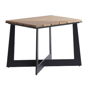 South Beach Dark Graphite and Light Brown Square End Table