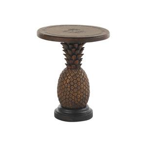 Alfresco Living Brown Pineapple End Table