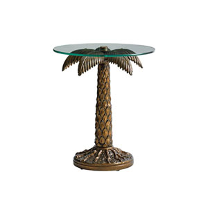 Alfresco Living Brown Palm Tree End Table