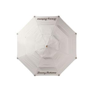 Alfresco Living White and Brass Umbrella - Canvas