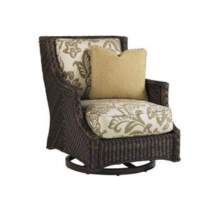 Island Estate Lanai Brown and Gold Swivel Lounge Chair