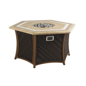 Island Estate Lanai Brown and Beige Fire Pit