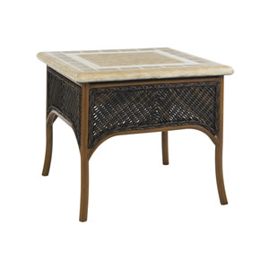 Island Estate Lanai Brown and Beige Accent Table