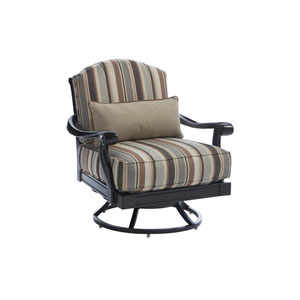 Kingstown Sedona Ebony and Beige Swivel Lounge Chair