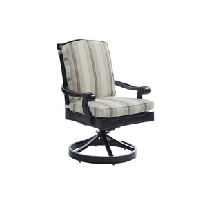 Kingstown Sedona Ebony and Ivory Swivel Rocker Dining Chair