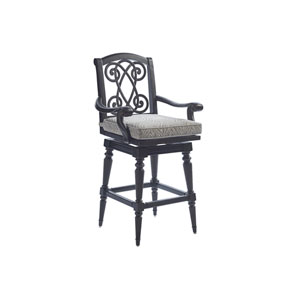 Kingstown Sedona Ebony and Ivory Swivel Bar Stool