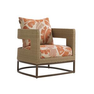 Aviano Mocha and Orange Chair