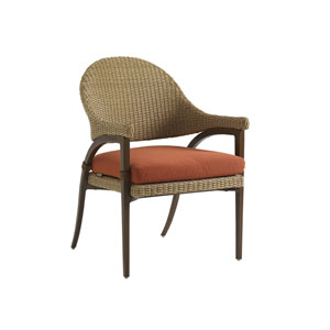 Aviano Mocha and Orange Dining Chair