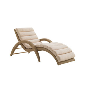 Aviano Mocha and Natural Chaise Lounge