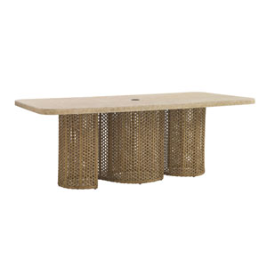 Aviano Brown Dining Table with Weatherstone Top