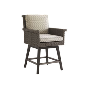 Blue Olive Brown Swivel Counter Stool