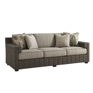 Blue Olive Brown Sofa