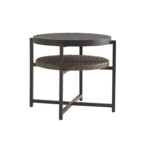 Blue Olive Brown End Table