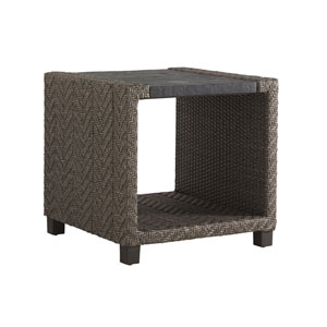 Blue Olive Brown Square End Table