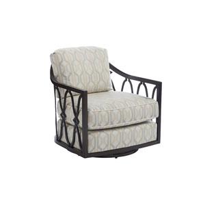 Royal Kahala Black Sands Dark Brown and Ivory Swivel Chair