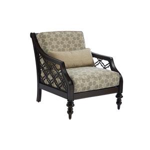 Royal Kahala Black Sands Dark Brown and Taupe Chair