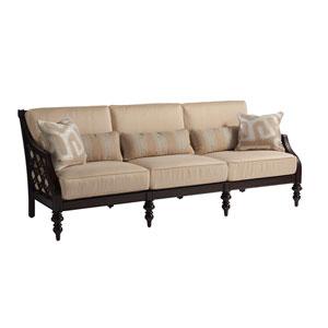 Royal Kahala Black Sands Dark Brown and Tan Sofa