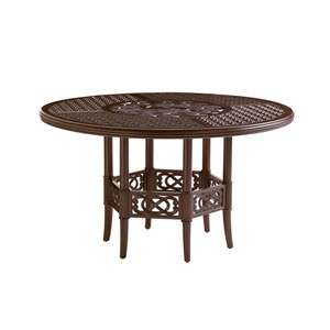 Royal Kahala Black Sands Dark Brown Dining Table with Cast Top