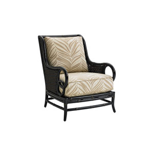 Marimba Black and Beige Lounge Chair