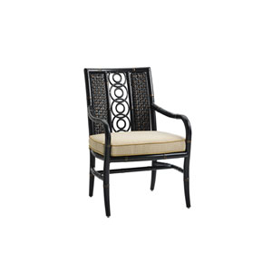 Marimba Black and Beige Dining Chair