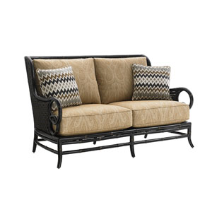 Marimba Black and Gold Love Seat
