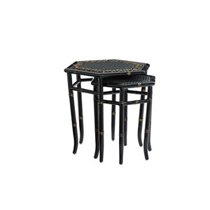 Marimba Black Nesting Tables
