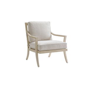 Misty Garden Ivory Lounge Chair