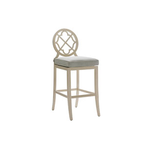 Misty Garden Ivory and Green Bar Stool