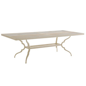 Misty Garden Ivory Dining Table with Porcelain Top