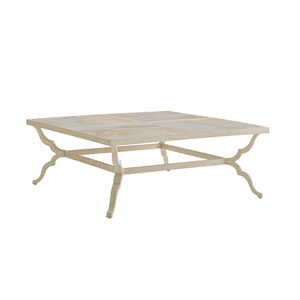 Misty Garden Ivory Cocktail Table
