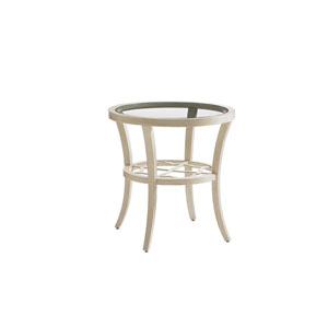 Misty Garden Ivory Round End Table