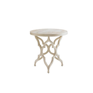 Misty Garden Ivory Accent Table