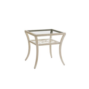 Misty Garden Ivory Square End Table