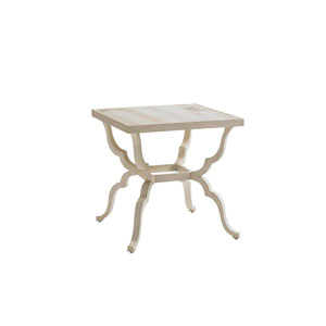 Misty Garden Ivory End Table