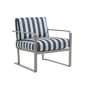 Del Mar Gray and Blue Chair