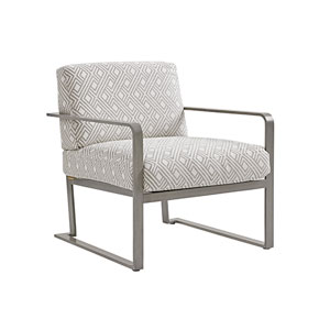 Del Mar Gray and White Chair