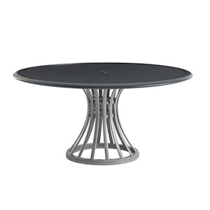 Del Mar Gray and Black Dining Table