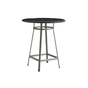 Del Mar Gray and Black High Low Bistro Table