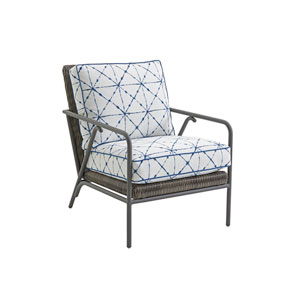 Cypress Point Ocean Terrace Brown and Blue Occasional Chair