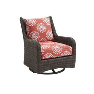 Cypress Point Ocean Terrace Brown and Orange Occasional Swivel Glider Chair