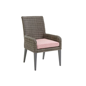 Cypress Point Ocean Terrace Brown and Red Arm Dining Chair