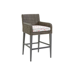 Cypress Point Ocean Terrace Brown, Gray and Red Bar Stool