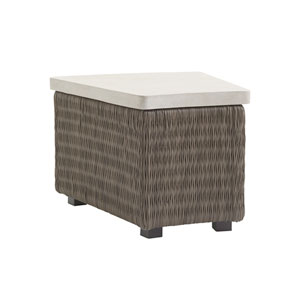 Cypress Point Ocean Terrace Brown and Ivory Accent Table
