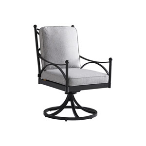 Pavlova Graphite and Gray Swivel Rocker Dining Chair