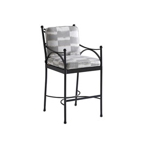 Pavlova Graphite and Gray Bar Stool