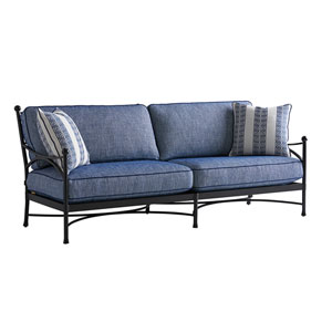 Pavlova Graphite and Blue Sofa