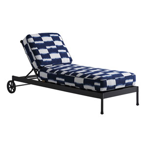 Pavlova Graphite and Blue Chaise Lounge