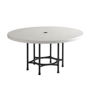 Pavlova Graphite and White Round Dining Table